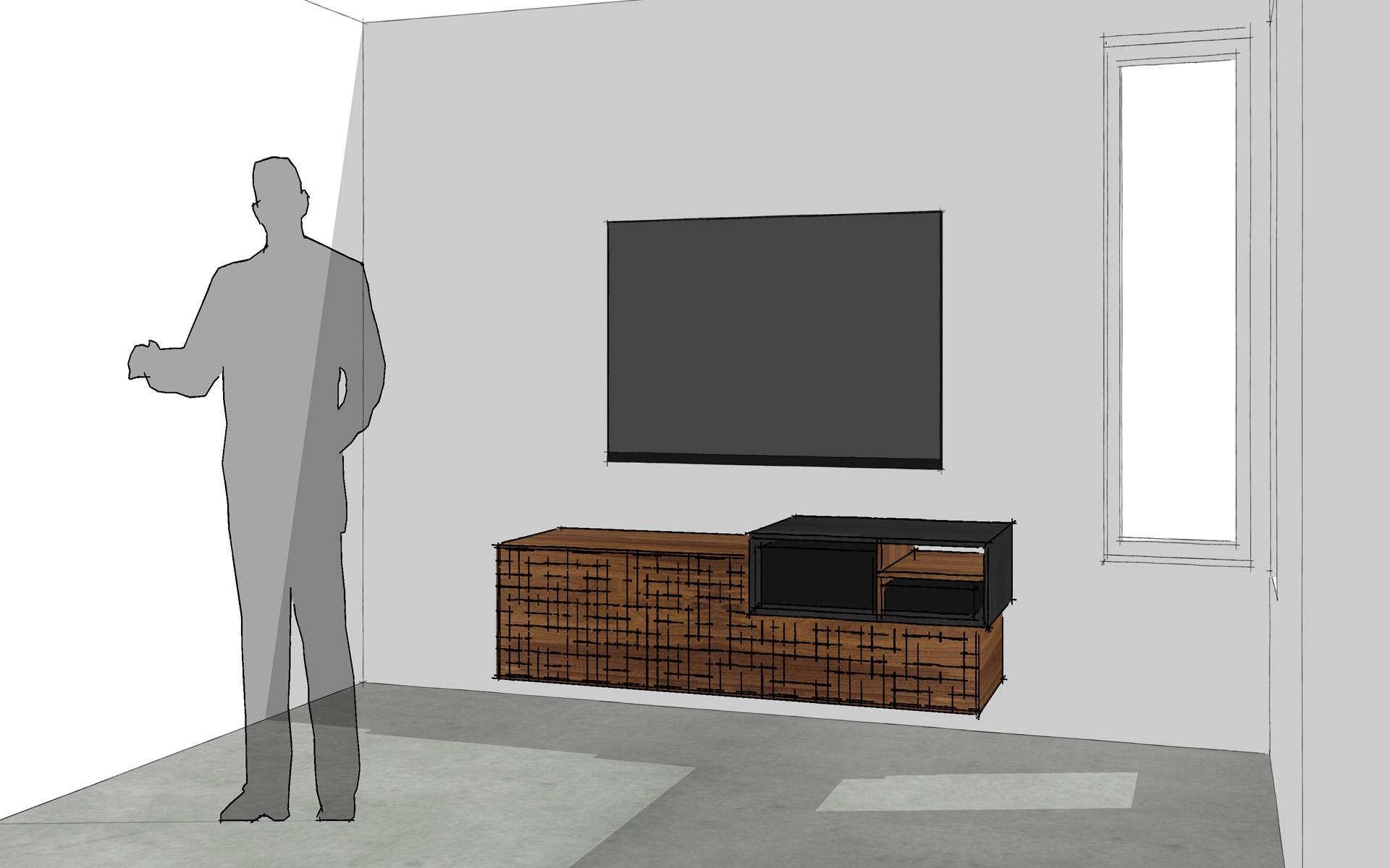 PXL TV-meubel Amerikaans Notenhout Studio SOOL