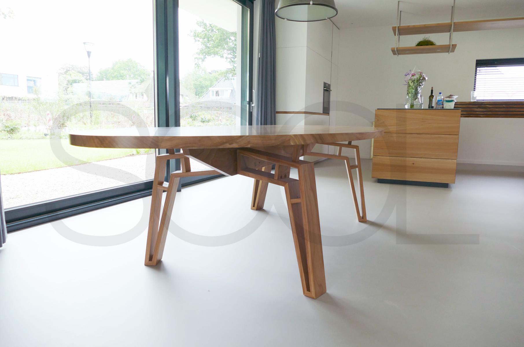 spinnenpoot tafel groningen iepenhout